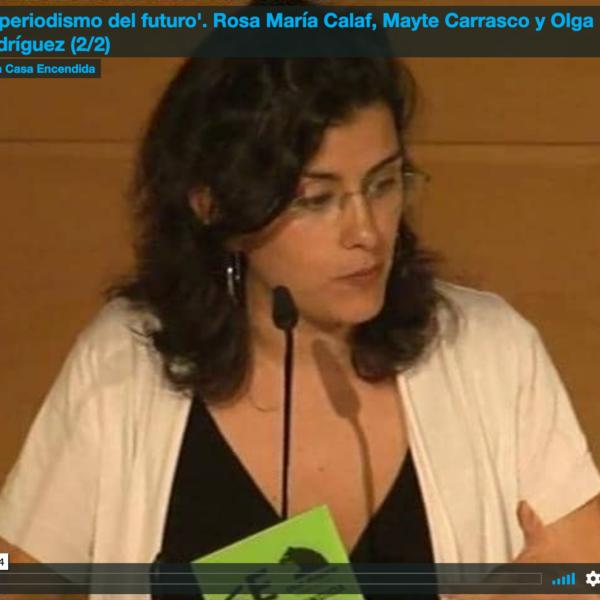 Videoconferencia sobre el periodismo en el futuro