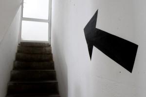 Escalera-flecha