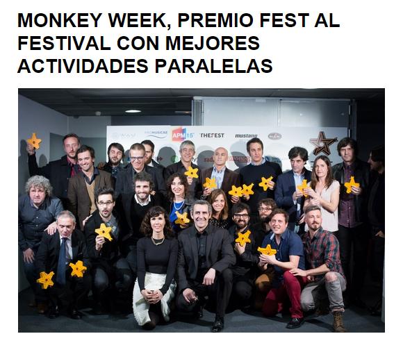 Festival Monkey Week premio fest