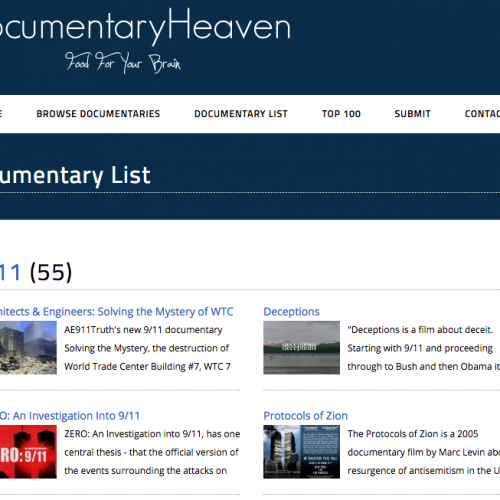 Más de 6000 documentales gratis – Documentary Heaven