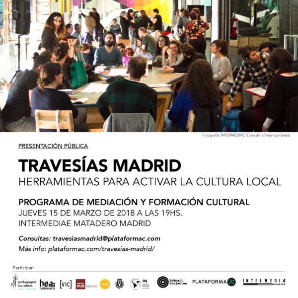 Te invitamos a la presentación pública de Travesías Madrid