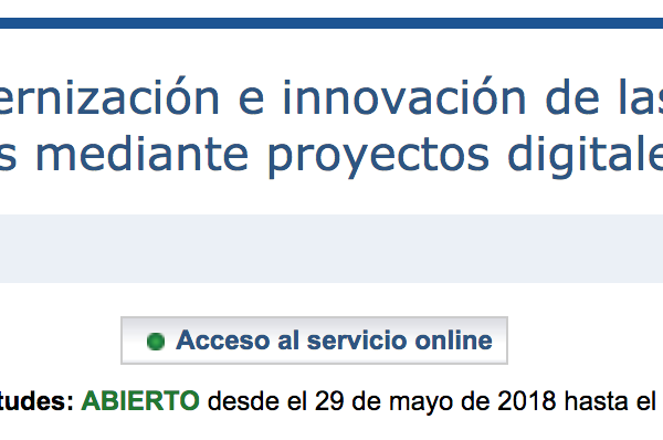 Ayudas para la modernización e innovación de las industrias culturales y creativas mediante proyectos digitales y tecnológicos