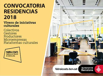 Fabra i Coats: convocatoria de residencias de proyectos de iniciativas culturales
