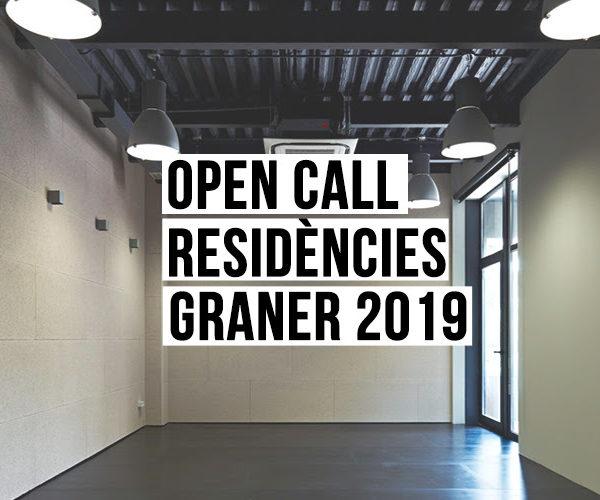 Abierta la convocatoria de residencias Graner 2019