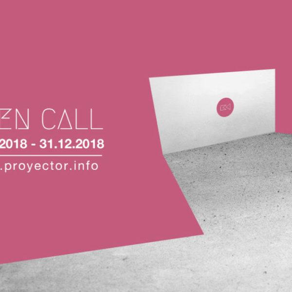 Open Call Proyector 2019