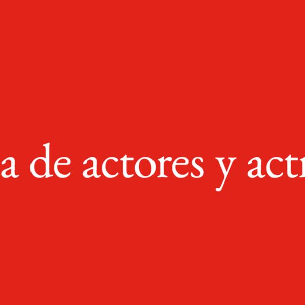 Bolsa de actores y actrices del Teatro Español y las Naves del Español en Matadero